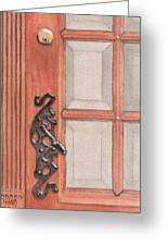 Ornate Door Handle Greeting Card