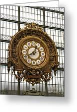 Ornate Orsay Clock Greeting Card by Ann Horn