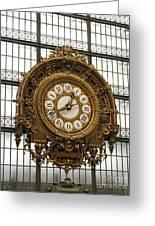 Ornate Orsay Clock Greeting Card