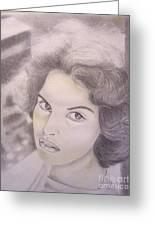 Ornella Vanoni Portrait Greeting Card
