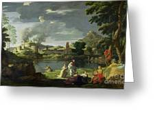 Orpheus And Eurydice Greeting Card by Nicolas Poussin
