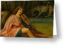 Orpheus Giovanni Bellini Greeting Card