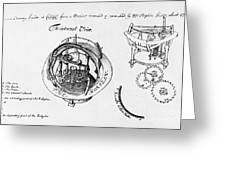 Orrery By Stephen Hales, 1705 Greeting Card