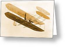 Orville Wright In Wright Flyer 1908 Greeting Card