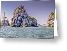 Oryukdo Islands, Busan, South Korea Greeting Card