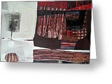 Os1957bo008 Abstract Landscape Of Potosi Bolivia 22.3 X 30.3 Greeting Card
