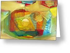 Os1959bo003 Abstract Landscape Potosi 17.75x16.5 Greeting Card by Alfredo Da Silva