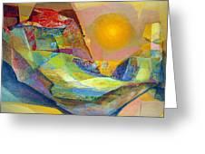 Os1959bo005 Abstract Landscape Potosi 22.75x18.5 Greeting Card by Alfredo Da Silva