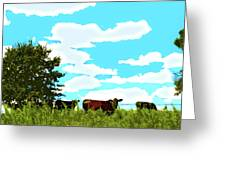 Osage County Cows Greeting Card