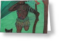 Osain Greeting Card by Gabrielle Wilson-Sealy
