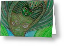 Wadjet Osain Greeting Card by Gabrielle Wilson-Sealy