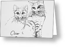 Oscar And Poppy Greeting Card