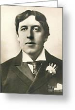 Oscar Wilde Greeting Card by Granger