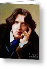 Oscar Wilde, Literary Legend Greeting Card