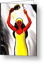 Oshun -goddess Of Love -4 Greeting Card by Carmen Cordova