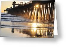 O'side Pier Greeting Card