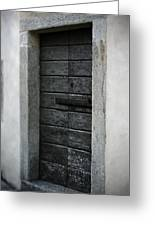 Ossucio Door 2 Greeting Card by Chuck Parsons