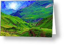 Ossue Mountains Greeting Card