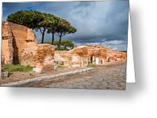 Ostia Antica - Strolling The Decuman Greeting Card