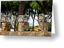 Ostia Antica - Theatre Marble Masks Greeting Card