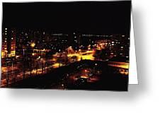 Ostrava At Night Greeting Card