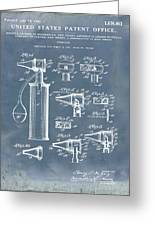 Otoscope Patent 1927 Blue Grunge Greeting Card