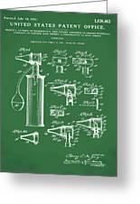 Otoscope Patent 1927 Green Greeting Card