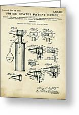 Otoscope Patent 1927 Old Style Greeting Card