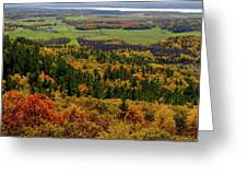 Ottawa River Valley In Fall At Tawadina Lookout At End Of Blanch Greeting Card