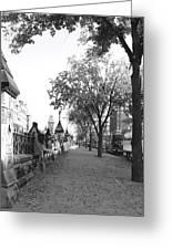 Ottawa Sidewalk Greeting Card
