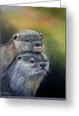 Otter Be Two Greeting Card