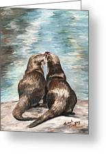 Otter Buddies Greeting Card