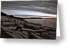 Otter Cliffs Dawn #5 Greeting Card
