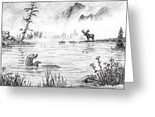 Otter Fog Greeting Card