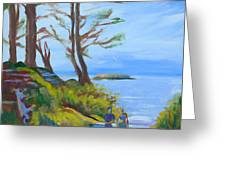 Otter Rock Marine Garden Path Greeting Card