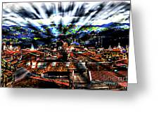 Our City In The Andes Greeting Card