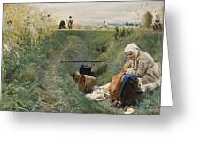 Our Daily Bread Anders Zorn Greeting Card
