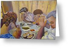 Our Daily Bread Greeting Card by Saundra Johnson