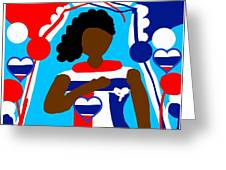 Our Flag Of Freedom 3 Greeting Card