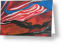 Our Flag Their Oil Greeting Card