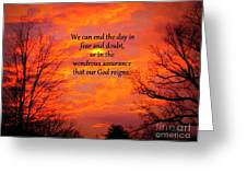 Our God Reigns Greeting Card
