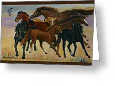 Our Horses Greeting Card