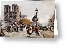 Our Lady For The Quai Saint-michel Greeting Card