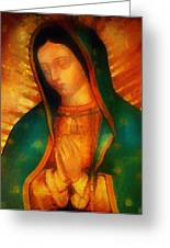 Our Lady Of Guadalupe Greeting Card by Bill Cannon