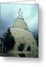 Our Lady Of Lebanon Statue In Harissa Greeting Card