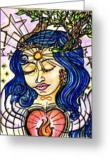 Our Lady Of Self Blessing Greeting Card