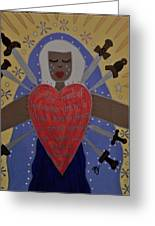 Our Lady Of Sorrows Greeting Card by Angela Yarber