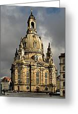 Our Lady's Church Of Dresden Greeting Card by Christine Till