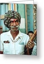 Our Man In India Greeting Card