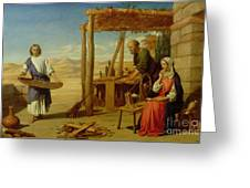 Our Saviour Subject To His Parents At Nazareth Greeting Card by John Rogers Herbert